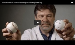 Novartis scientist Jeff Weers, whose love of baseball gave him the idea to transform particle engineering