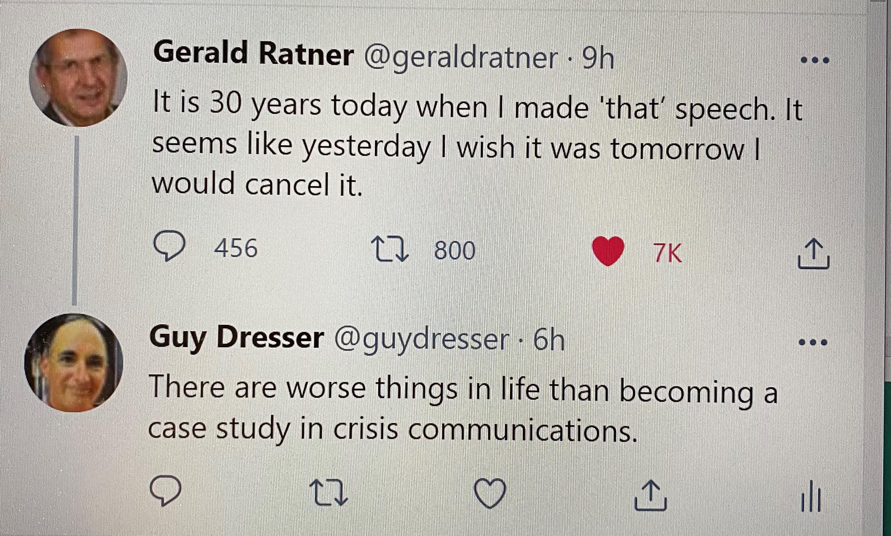 Gerald Ratner tweet